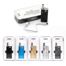mini box mods 2019 - Original Hibron H10 Mini Kit E Cigarette Kits Oil Cartridges 0.8ml CE3 Tank 650mAh 10W Box Mod Kits Portable E Cigs disc