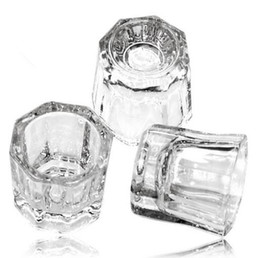 Barato Gel Acrílico Líquido Unha-Crystal Tint Bowl Glass Dappen Dish Nail Art Acrílico Liquid Holder Container