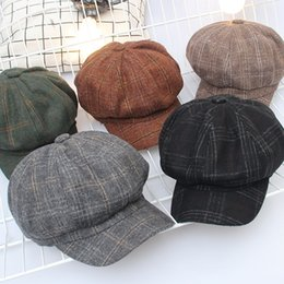 Art Church Australia - 2017 new Vintage and art octagon men and women in the winter and evening wear a beret checked pumpkin cap