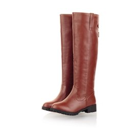 $enCountryForm.capitalKeyWord Canada - Wholesale-SaraIris On Sale Sexy Women's Knee High Low Heel Boots Classic Warm Fur Platforms Winter Round Toe Riding Boots Big size 34-43