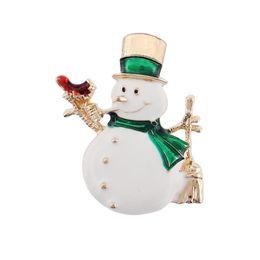 $enCountryForm.capitalKeyWord Canada - Wholesale 10 Pcs Hot Christmas Gold Plated Enamel Snowman Brooch Pin Xmas Brooches Lot Collar Clip For Scarf Buckle Accessorry