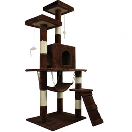 "Large Housing Australia - New Brown 57"" Cat Tree Condo Furniture Scratch Post Pet House"