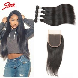 Sleek hair extensions wholesale canada best selling sleek hair rebecca wholesale hair extensions brazilian peruvian indian malaysian 100 human virgin straight hair weft with 44 closure sleek hair pmusecretfo Gallery