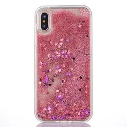 Iphone Cases Liquid NZ - Fashion Glitter Sparkle Liquid Quicksand Star Heart Hard Phone Case Coque Fundas For iPhone 6 6S 6Plus 5 7 7Plus 8 8Plus X