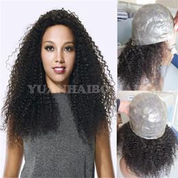 $enCountryForm.capitalKeyWord Canada - High quality 1b virgin peruvian hair kinky curly full thin skin wig for black women free shipping