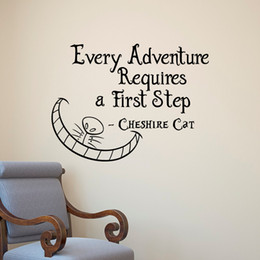 $enCountryForm.capitalKeyWord Canada - Alice In Wonderland Wall Decals Quotes Cheshire Cat Every Adventure Requires A First Step Vinyl Wall Sticker Art Decor