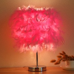 Discount modern girl bedding - Creative Pastoral birthday gift girl lovely baby warm light night lightSmall bedroom lamp bedside table lamp
