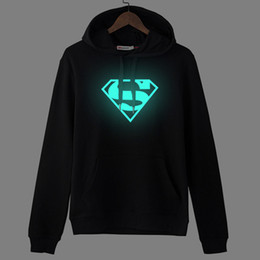 iron man 3d light UK - Cotton sweater Marvel 2 amazing spider man luminous blue hoodies and cashmere LOL clothes and iron man light wave