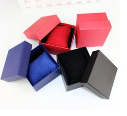 Wholesale Paper Watch Box with Soft Pillow Paper Gift Boxes Case For Bangle Jewelry Ring Earrings Wrist Watch Gift Box