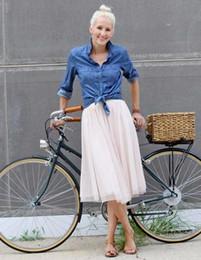 $enCountryForm.capitalKeyWord Canada - Comfortable Soft Tulle Mid Calf Tulle Skirts For Modest Women Gray Tutu Skirt fashion Style Women Clothing