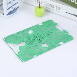 Laser cut birthday cards online shopping - Greeting Cards With Hollow Envelope Laser Cut Folding Wedding Invitation DIY Birthday Mother Day Gift Souvenir Postcard rc F