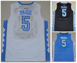 Jersey White Basketball Paige Carolina 5 Marcus Ncaa North Stitched