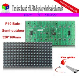$enCountryForm.capitalKeyWord Canada - P10 single blue HD LED display module for Semi-outdoor  Indoor 320*160mm 32*16 pixels Dot Matr