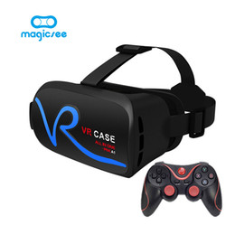 $enCountryForm.capitalKeyWord Canada - Wholesale- VR CASE V1 All IN ONE Virtual Reality Glasses for 4-5.0 inches Phone 3D IMAX Touch Control Mobile VR Glasses+Remote control