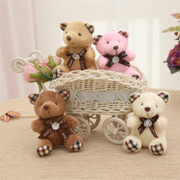 $enCountryForm.capitalKeyWord NZ - Super Kawaii Teddy Bear Doll Pendants Mini Stuffed Tie Bear Plush Toys for Bag Lovers Stuffed Animals Figures Plush Dolls