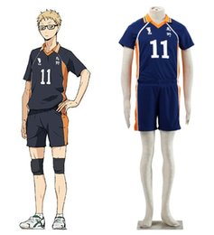 Discount haikyuu cosplay - Haikyuu!! Karasuno High school volleyball Kei Tsukishima jersey NO.11 Cosplay Uniform halloween costumes