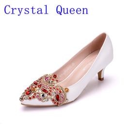 $enCountryForm.capitalKeyWord NZ - Crystal Queen 5cm Heel Woman Wedding Shoes Pumps With Luxury Rhinestones Bridal Shoes Female Ladies Bling Party Dress Shoes
