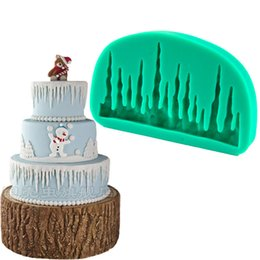 Silicone Christmas Fondant Mould UK - 1pcs Christmas Snow Ice Silicone Soap Mold patisserie reposteria Fondant Cake Tools Chocolate Mould Cupcake Pastry Shop Paste Gum Bakery DIY