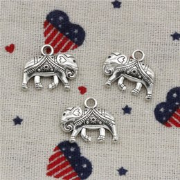 $enCountryForm.capitalKeyWord NZ - Wholesalecs- 84pcs Charms Thailand mounts elephant 16*20mm Pendant,Vintage Tibetan Silver,For DIY Necklace&Bracelets Jewelry Accessories