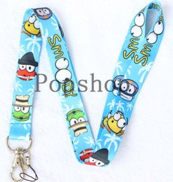 classic card games NZ - free shipping 100 Pcs Classic game smoody Mobile Phone Neck Straps Neck Strap Keys Camera ID Card Lanyard