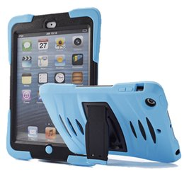 Drop protector for ipaD online shopping - For iPad Mini Case Rugged Protector Hybrid in Shockproof Robot Kickstand Case For iPad Mini DHL PCC052