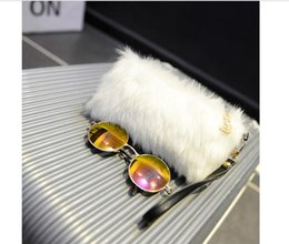 Discount winter wallet - 50pcs 2017 New Autumn and Winter Coin purse Women plush Min Evening Bags Ladies Candy Color phone zipper clutch bags
