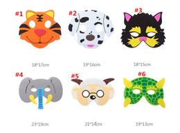 $enCountryForm.capitalKeyWord Canada - Kids Halloween cartoon animal mask fox rabbit tiger cosplay eye masks for children party Masquerade mask