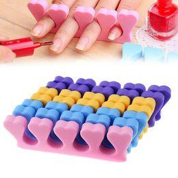 Vente en gros 300 pcs / lot Éponge Manucure Pédicure Forme De Ongles Doux Spacer Nail Art Doigt Séparateur De Couleur Aléatoire