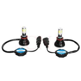 ENVÍO de DHL 80W H11 COB llevó la bombilla de la linterna del coche Canbus 6000K kit de la lámpara de conducción auto de la niebla de DRL todo en uno