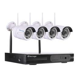4ch 1080 p sem fio do sistema de cctv nvr wi-fi 2.0mp ir ao ar livre bala p2p câmera ip kit de vigilância de segurança de vídeo à prova d 'água em Promoção