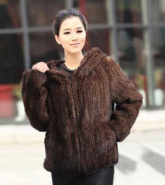 Barato Vendas De Vison-Hot Vendas Real Knit Mink Fur Jacket Para Mulheres Top Moda Natural Mink Fur Coat 2016 Novo Brand Real Fur Coat