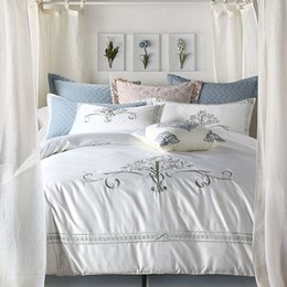 european style embroidery 60 cotton four sets of cotton american bedding six sets of white home textiles