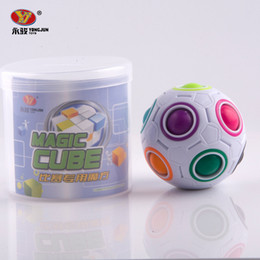Magic Balls Puzzles Canada - Hot Spherical Magic Cube Toys Novelty Rainbow Ball Football Puzzle Cubes Learning & Educational Toys For Children Kids
