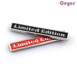 Car Styling 3D Metal Logo Stickers Édition Limitée Badge pour bmw audi opel siège saab jeep lada nissan toyota voiture emblèmes autocollants