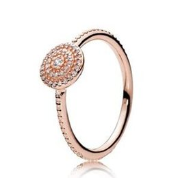 $enCountryForm.capitalKeyWord UK - 2017 Spring European Pandora Style Rose Gold Plated Radiant Elegance Ring with Clear Cz Fashion Jewelry Women Charms Ring