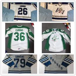 94f4109f4 Customize OHL Sudbury Wolves Jersey Mens Womens Kids 26 Steven Landry 36  Cummins 79 Santini Hockey Jerseys Goalit Cut Hot sale