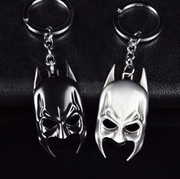 $enCountryForm.capitalKeyWord Canada - Hot! Free Shipping 1pcs Black+Silver Classic Marvel Superhero Batman Mask Metal Keychain Pendant Key Chains Retail