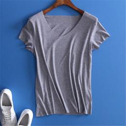 Girls V Neck T Shirts Canada - Wholesale- YUETONGME 2017 European style sexy V neck black t-shirt women tops christmas shor sleeve top Girl t shirt 90's crop top BTL073