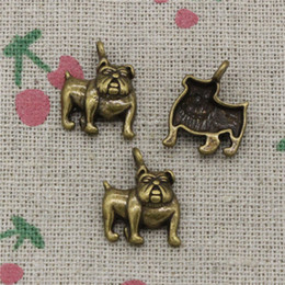 Dog Charms NZ - 90pcs Charms dog pug bulldog 17*13mm Antique Bronze Pendant Zinc Alloy Jewelry DIY Hand Made Bracelet Necklace Fitting