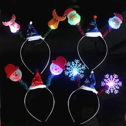 $enCountryForm.capitalKeyWord NZ - LED Christmas Headband Decorations Fiber Optic Lamp Bracelets Hairband Apple Night Light Pens Christmas Lamp Multiple Flash Modes
