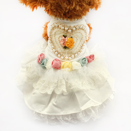 $enCountryForm.capitalKeyWord Canada - armipet Love Pearl Tutu Lace Dog Dresses Princess Wedding Skirt For Dogs 6073001 Puppy White Dress Clothing