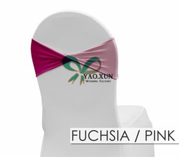 $enCountryForm.capitalKeyWord UK - Fuchsia And Pink Double Layer lycra Spandex Chair Band \ Chair Sash For Wedding Chair Cover Decoration