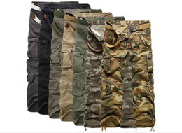 Discount mens fashion combat trousers 50pcs 7 COLORS Worker Pants CHRISTMAS NEW MENS CASUAL MILITARY ARMY CARGO CAMO COMBAT WORK PANTS TROUSERS M033