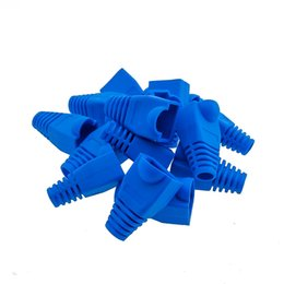 rj45 plug boots Canada - 5000pcs RJ45 blue boot for Connector Cat 5 5e 6 RJ45 Plug Cap Ethernet Network new