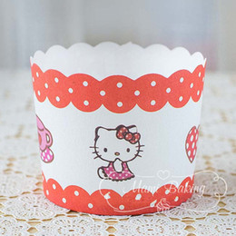 $enCountryForm.capitalKeyWord NZ - Cartoon Hello Kitty Cupcake Wrapper Cupcake Liners Muffin Paper Cases High Temperature Baking Cups Greaseproof Paper Cake Mold