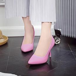 $enCountryForm.capitalKeyWord NZ - High Heel Women Shoes Fashion genuine leather 9cm heel Black&White shoes for Office Lady Elegant Slip on Pointed Toe dress shoes