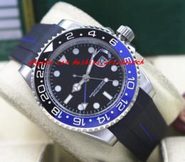 $enCountryForm.capitalKeyWord NZ - Fashion Top Quality Luxury II 116710 40mm Ceramic Bezel BATMAN Black Blue Rubber Bracelet Automatic Mechanical Men Watches New Arrival
