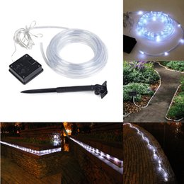 Wholesale  Waterproof Outdoor Party 40ft 100leds Solar Rope Tube LED Light  String STRIP