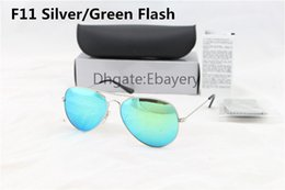$enCountryForm.capitalKeyWord Canada - High Quality Men Women Designer Pilot Sunglasses Sun Glasses Silver Flash Green Mirror Glass Lenses 62mm UV400 Protection Boxes Case