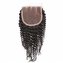 Free way curly part online shopping - Kinky Curly Lace Closure inch Free Middle Way Part A Grade Unprocessed Brazilian Indian Peruvian Malaysian Virgin Human Hair Natural